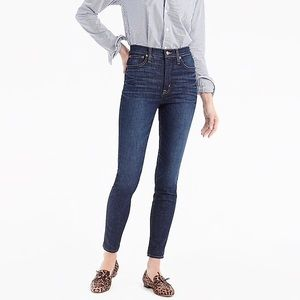 "NWT J. Crew 10"" High Rise Toothpick Jean"